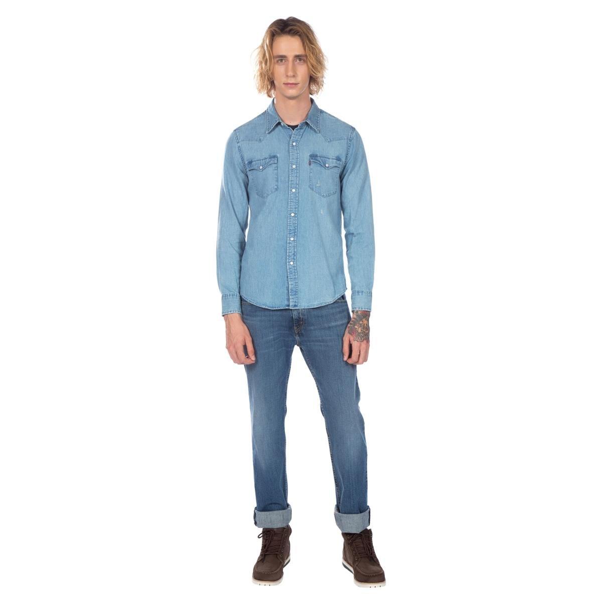 Camisa Levis Jeans Masculino Classic Western - Compre Agora  03caa6f20a9