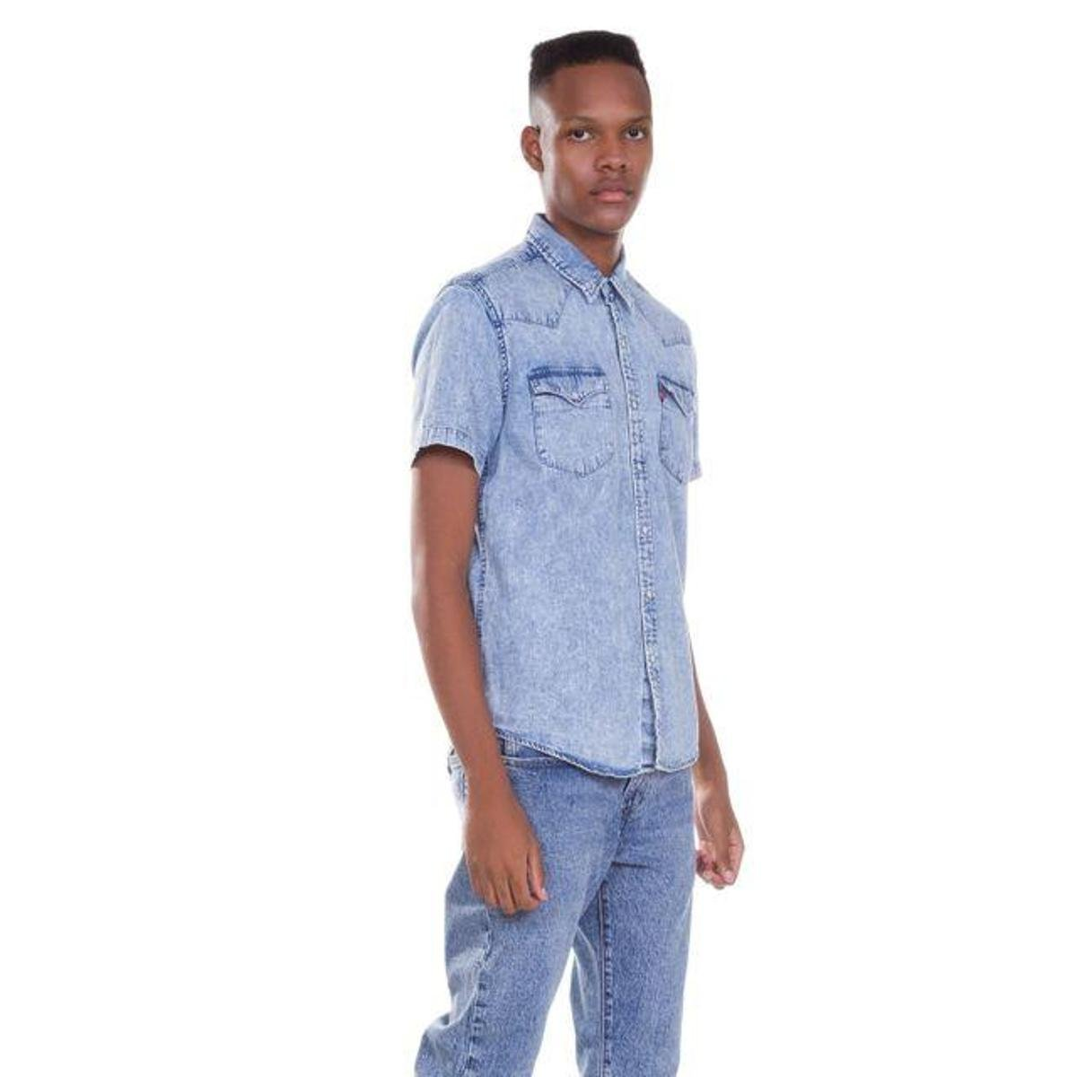 Camisa Levis Jeans Short Sleeve Classic Western Lavagem - Compre ... 3f2aa7c269a