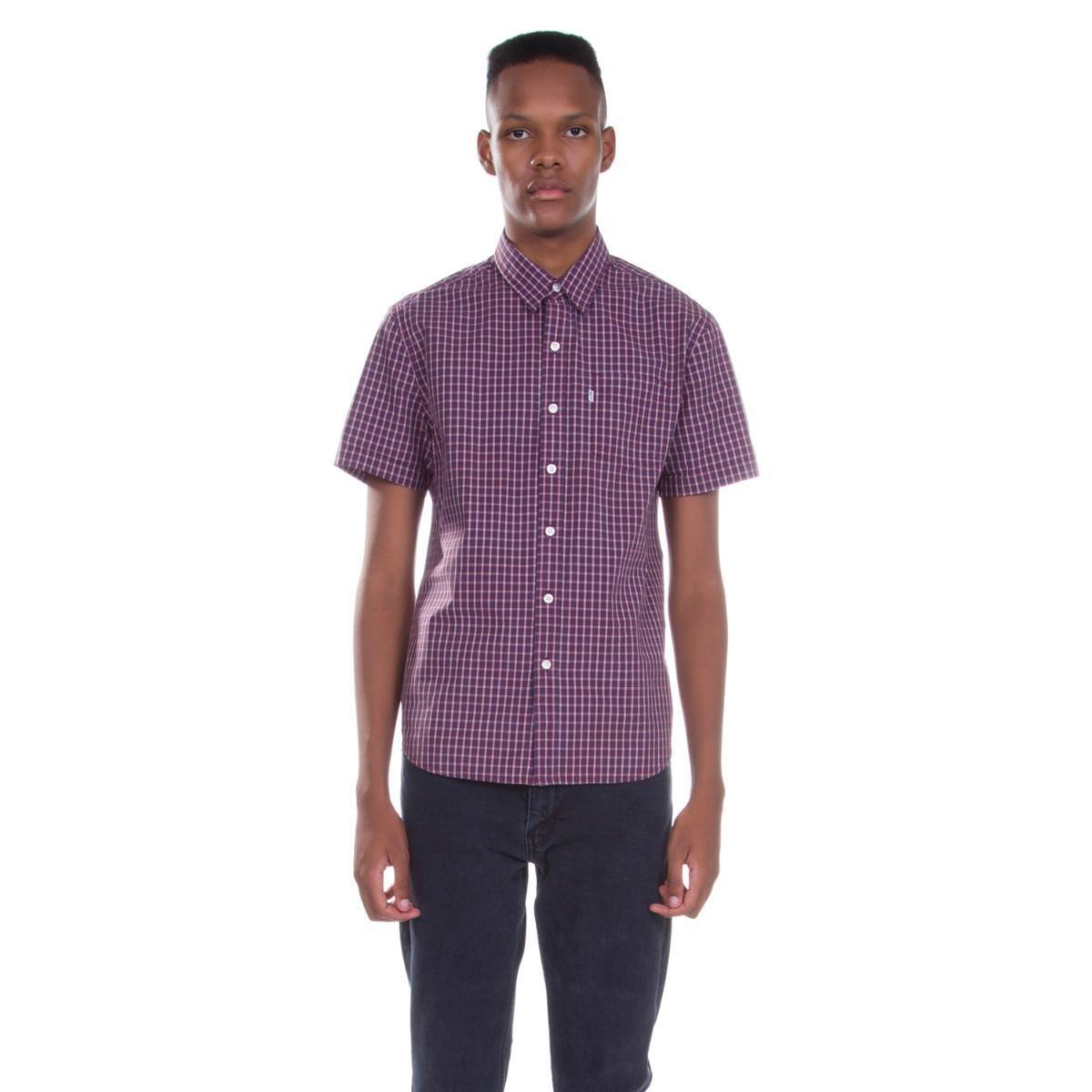 Camisa Levis Short Sleeve Classic One Pocket Xadrez - Compre Agora ... fae4f9c02d2