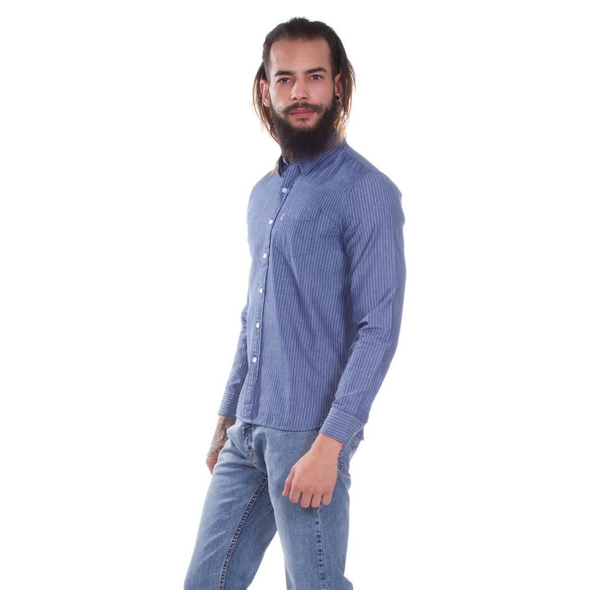 Camisa Levis Sunset One Pocket Listrada - Compre Agora  13d5ab76e1c