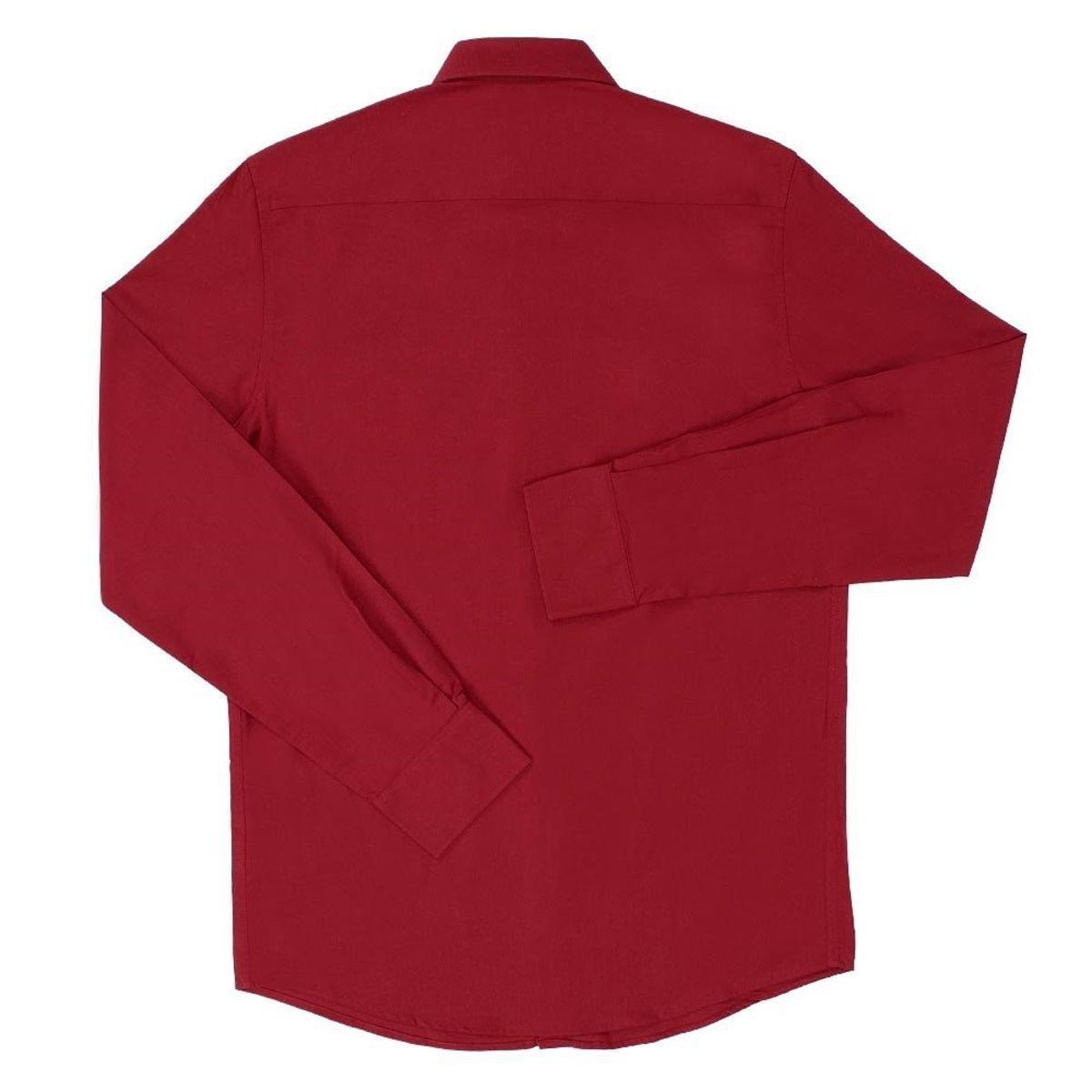 Camisa Lisa Masculina Manga Longa Tassa - Vermelho - Compre Agora ... 8baca8fc2ffd3