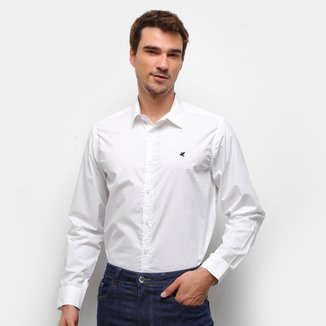 Camisa Malwee Lisa Manga Longa Masculina