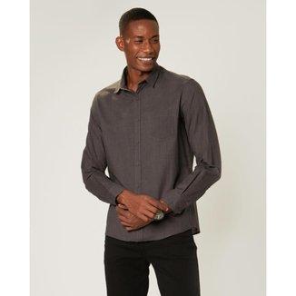 Camisa Malwee Slim Chambray Masculina