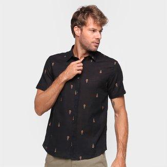 Camisa Manga Curta Foxton Hame Abacaxi Masculina