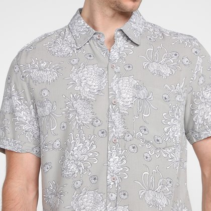 Camisa Manga Curta Hering Estampada Masculina