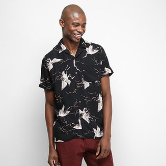 Camisa Manga Curta Pacific Blue Bird Masculina