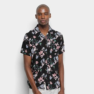 Camisa Manga Curta Pacific Blue Nature Masculina
