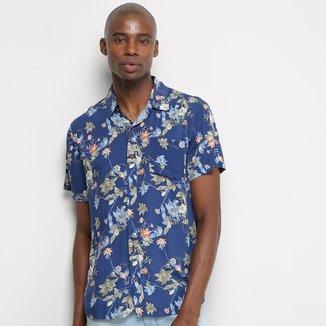 Camisa Manga Curta Pacific Blue Nature Masculina