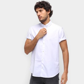 Camisa Manga Curta Reserva Oxford Color Masculina