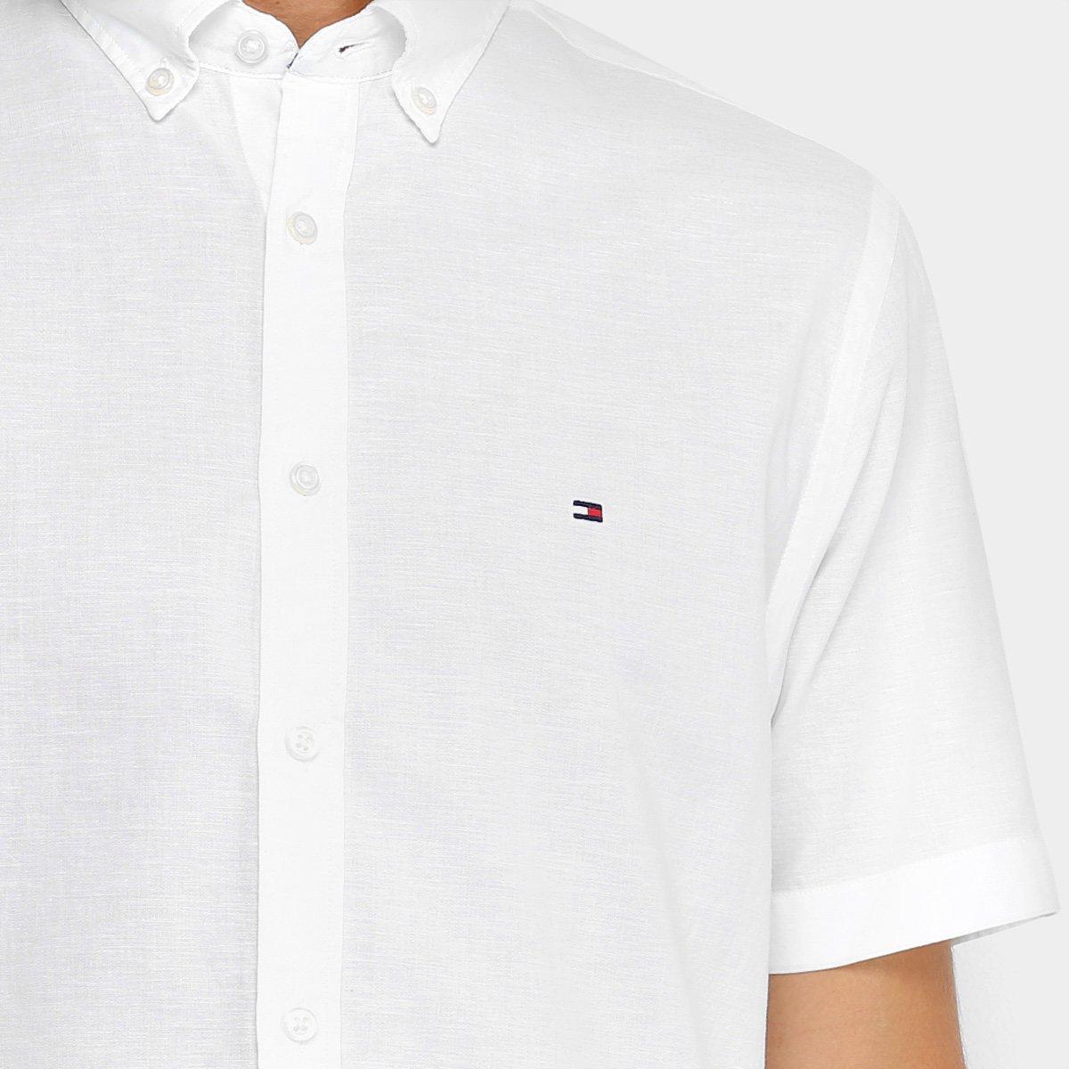 506abb0337 Camisa Manga Curta Tommy Hilfiger Fio A Fio Regular Fit Masculina ...