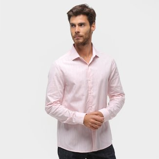 Camisa Manga Longa Calvin Klein Slim Fio 40 Xantê Masculina