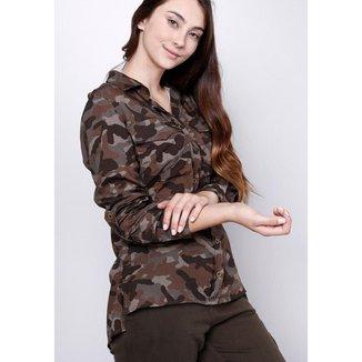 Camisa Manga Longa Camuflada Gang Feminina