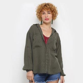 Camisa Manga Longa Colcci Militar Oversized Feminina