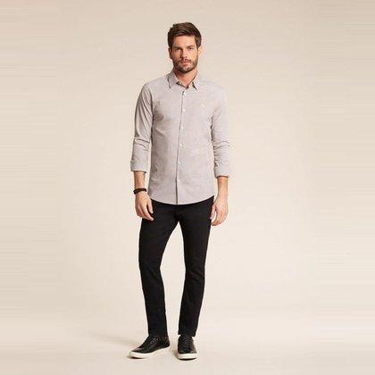 Camisa Manga Longa Confort Masculina