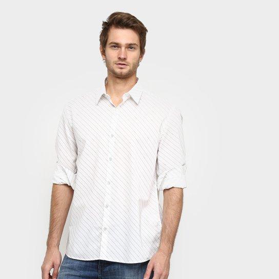 Camisa Manga Longa Ellus French Masculina - Branco