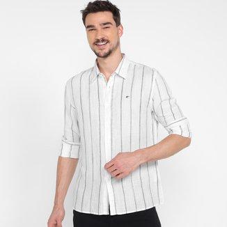 Camisa Manga Longa Ellus Linen Blend Dente-De-Leão Classic Masculina