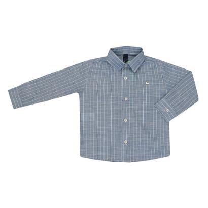 Camisa Manga Longa Infantil 1mais1 Listras Masculina