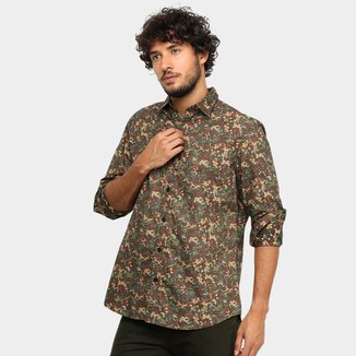 Camisa Manga Longa La Camizaria Hibou Colors Masculina