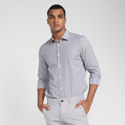 Camisa Manga Longa Lacoste Listrada Masculina