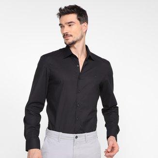Camisa Manga Longa Slim Ellus Tricoline Ly Italian Masculina