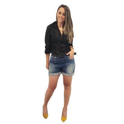 Camisa Mania Sophia Voal Listras Feminina - Zattini BR