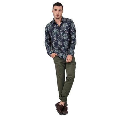 Camisa Masculina Estampa Tropical