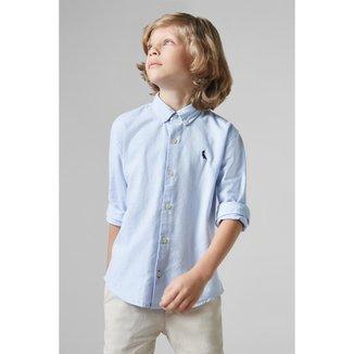 Camisa Masculina Infantil Mini Cont Oxford Reserva Mini