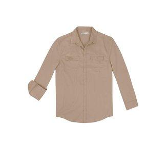Camisa Masculina Manga Longa Sarja De Algodão