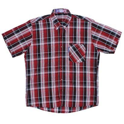 Camisa Masculina Xadrez Manga Curta Rode