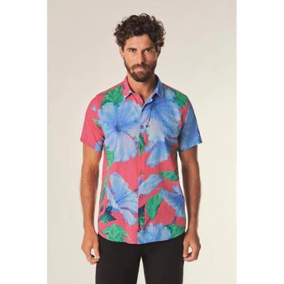Camisa Mc Hibisco Medio Reserva Masculina