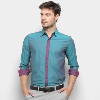 Camisa Milano Bicolor Manga Longa Masculina