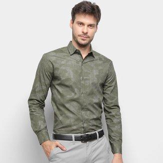 Camisa Milano Estampada Manga Longa Masculina