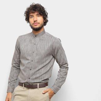 Camisa Milano Listrada Manga Longa Masculina