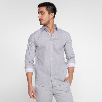 Camisa Milano Tricoline Estampada Manga Longa Masculina