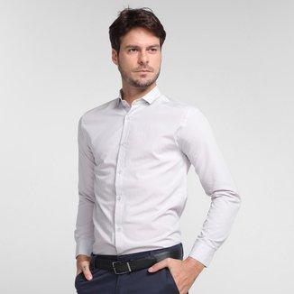 Camisa Milano Tricoline Manga Longa Masculina