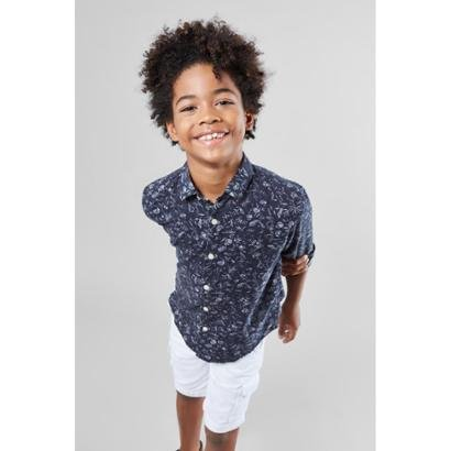 Camisa Mini PF Floral Carnaval Micro Infantil Reserva Mini Masculina