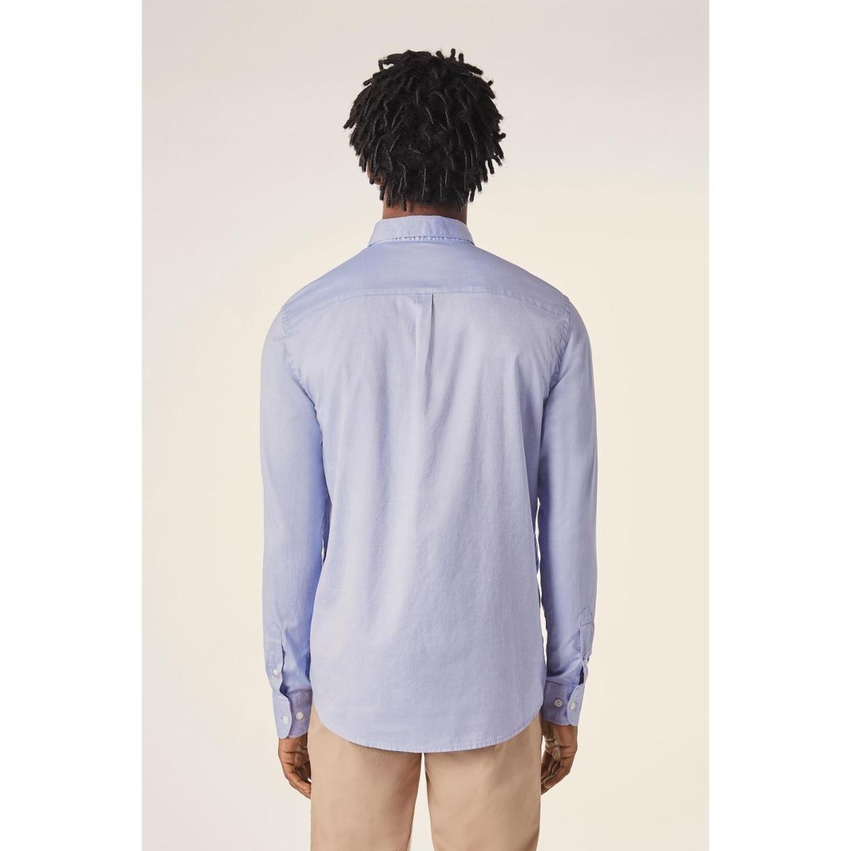 Camisa PF ML Oxford Pima Resista a Agua Reserva Masculino - Azul