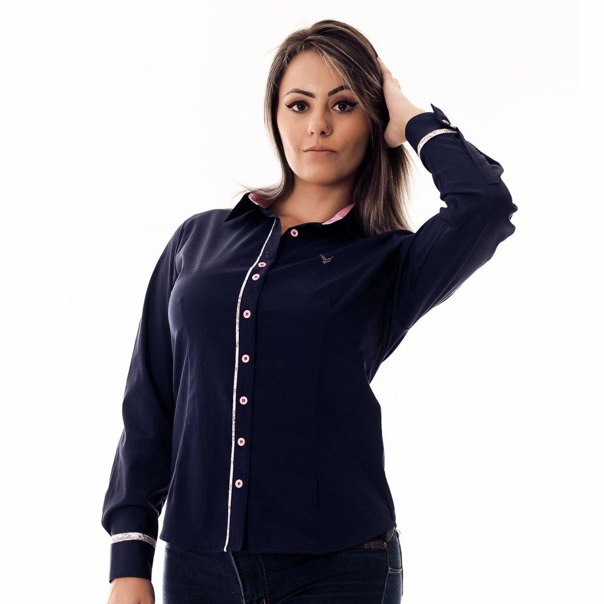 Camisa Pimenta Rosada da Pietra - Azul e Rosa - Compre Agora  21d366713a7e9