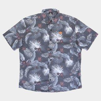 Camisa Plus Size Natural Art Jungle Masculina