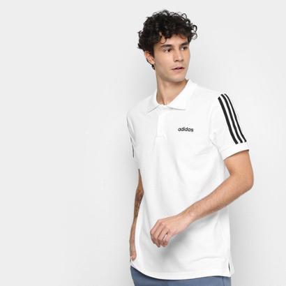 Camisa Polo Adidas Cot 3S Masculina
