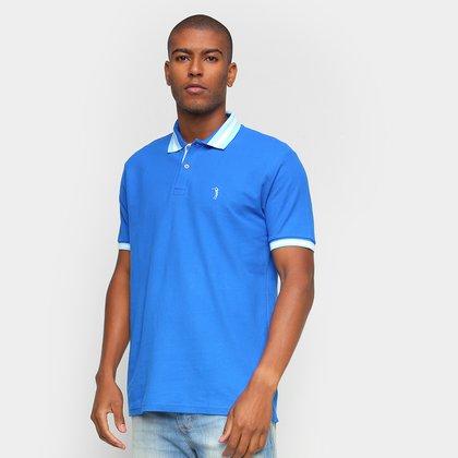 Camisa Polo Aleatory Básica Logo Masculina