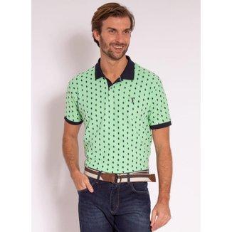 Camisa Polo Aleatory Estampada Diamond Masculina