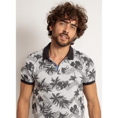 Camisa Polo Aleatory Leaved Masculino