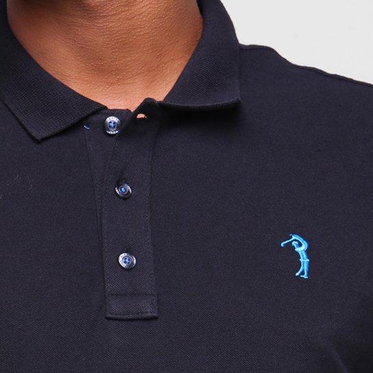 Camisa Polo Aleatory Lisa Masculina - Preto