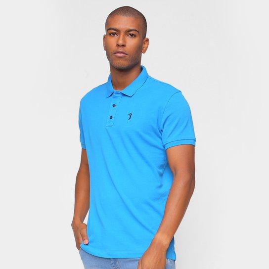 Camisa Polo Aleatory Lisa Masculina - Azul Royal