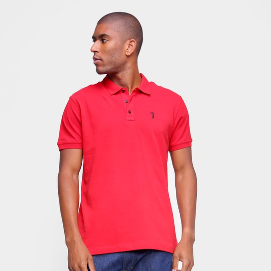 Camisa Polo Aleatory Lisa Masculina - Vermelho
