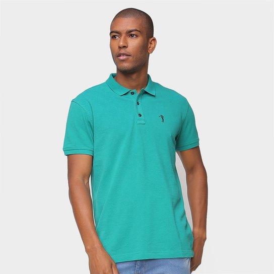 Camisa Polo Aleatory Lisa Masculina - Verde