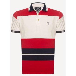 Camisa Polo Aleatory Listrada Check  Masculina