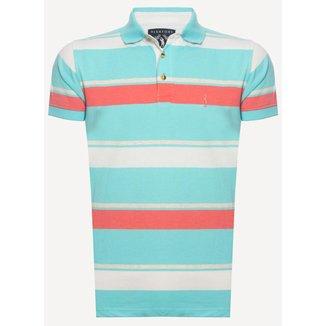 Camisa Polo Aleatory Listrada Club Masculina