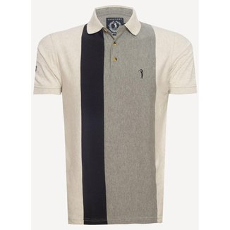 Camisa Polo Aleatory Listrada Press  Masculina
